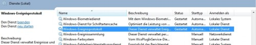 Windows Scheduler - Dienste