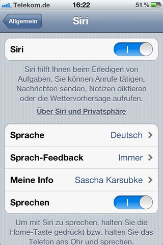 Siri - Settings 2