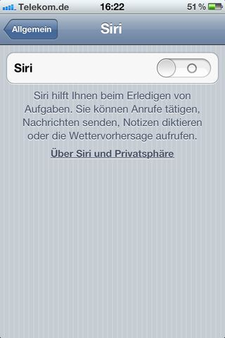 Siri - Settings 1