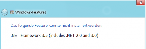 Win8 .Net 3.5 installation - Error Header