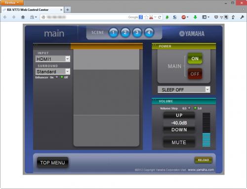 Yamaha RX-V773 WebSite