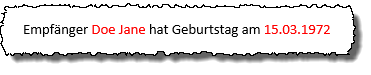 Word Serienbrief - Formatiertes Datum