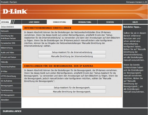 D-Link DCS-942L - WebConfig